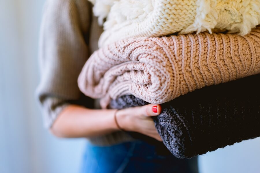 暖かい洗濯物